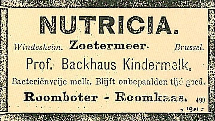 Nutricia - Vores historie - 1901
