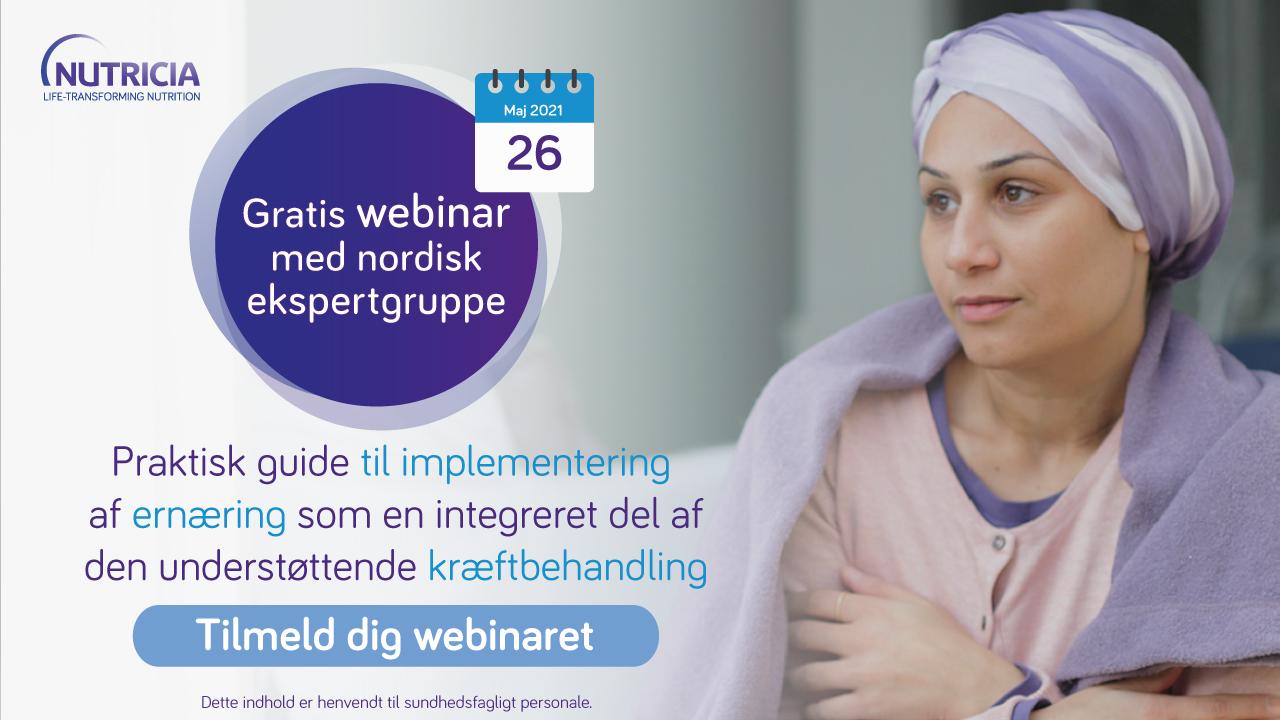 Live webinar: nye nordiske ekspertanbefalinger om ernæring som en integreret del af kræftbehandling